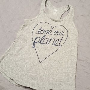 Old Navy Sparkle love our planet tank